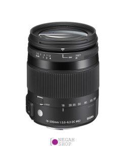 لنز زوم سیگما Sigma 18-200mm F3.5-6.3 DC Macro OS HSM C برای نیکون