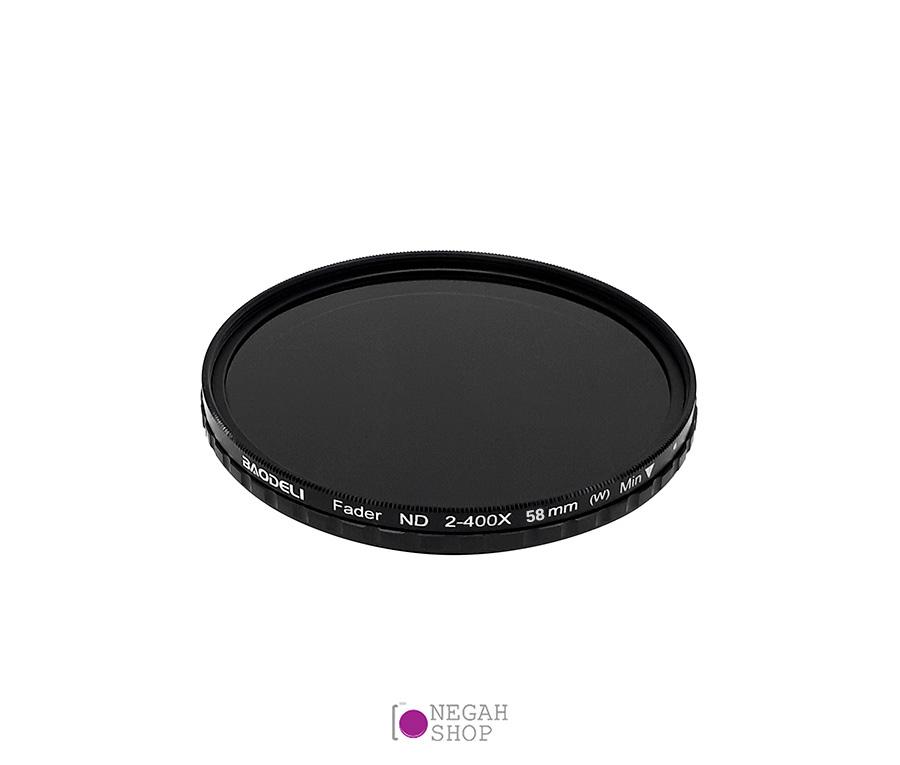 فیلتر لنز تراکم خنثی بائودلی Baodeli ND2-400 58mm