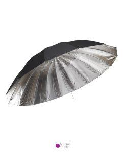 چتر 150 سانت داخل نقره ای Reflector black & silver umbrella 150cm