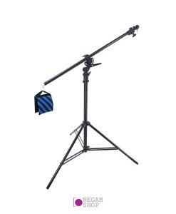 سه پایه بوم بادی درجه 1 به همراه کیف وزنه Studio Boom Arm Light Stand