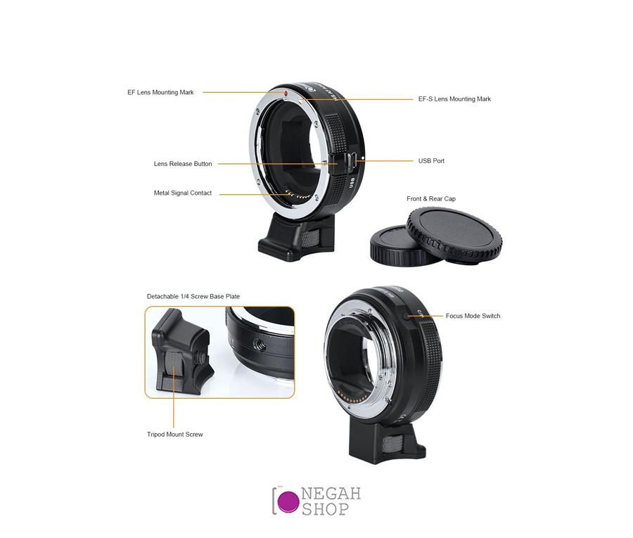 تبدیل لنز های کانن با مانت EFEF-S به دوربین های سونی با مانت E برند Commlite Comix