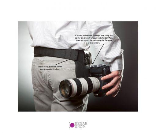کمربند نگهدارنده تکی دوربین های DSLR اسپایدر مدل SpiderHolster Pro Single 100