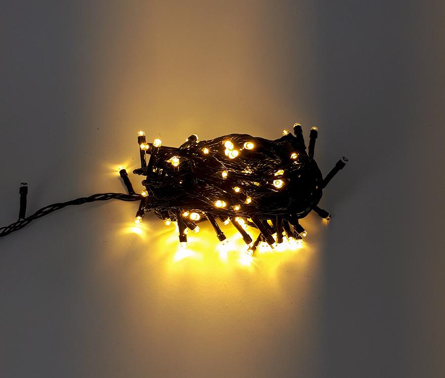 ریسه ال ای دی عکاسی کریسمسی (سوزنی) 10 متری آفتابی برقی کابل مشکی