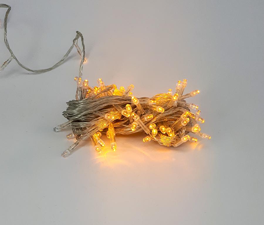 ریسه ال ای دی عکاسی کریسمسی (سوزنی) 10 متری نارنجی برقی