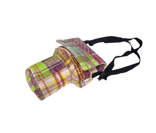کیف دوربین عکاسی پارچه ای طرح چهارخانه