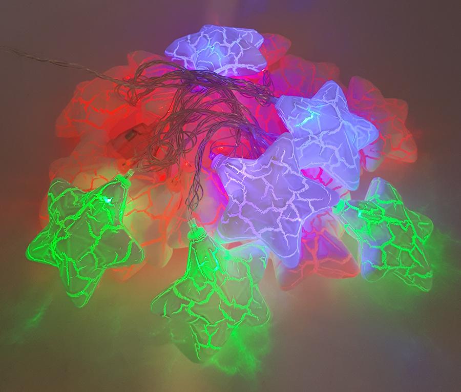 ریسه ال ای دی ستاره ای پفکی 3 متری رنگارنگ برقی