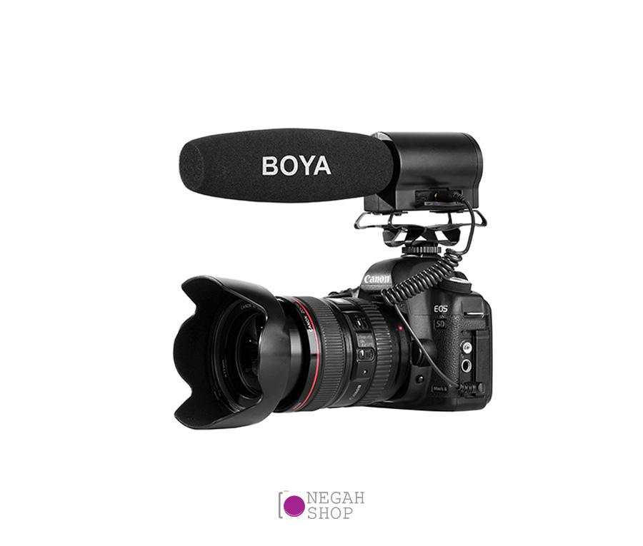 میکروفون شات گان بویا Boya BY-DMR7 Shotgun Microphone with Integrated Flash Recorder