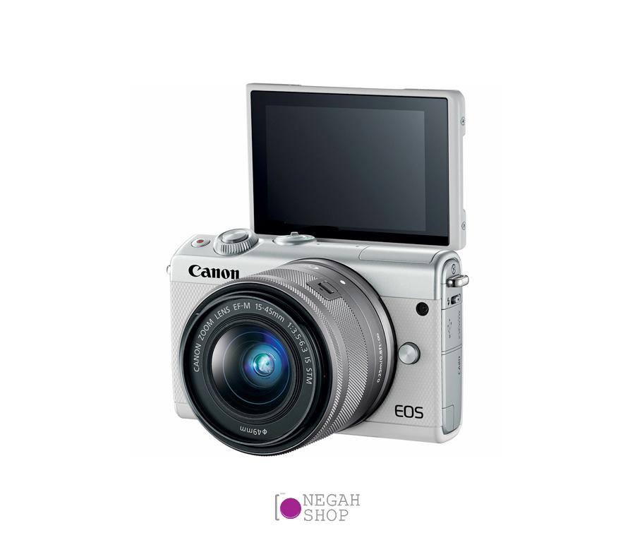دوربین عکاسی بدون آینه کانن Canon EOS M100 EF-M 15-45mm IS STM (سفید) (3)