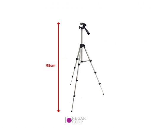 سه پایه دوربین عکاسی نقره ای