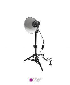 هولدر لامپی کاسه دار به همراه لامپ و سه پایه