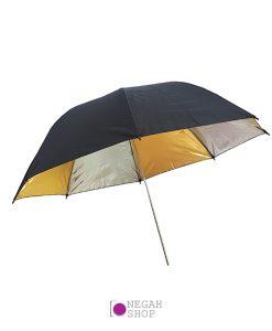 چتر داخل طلایی نقره ای 100 سانتی متر