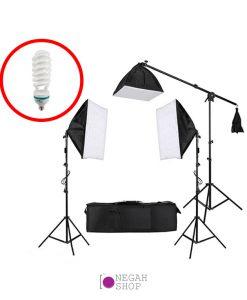 کیت نور ثابت 3 لامپ