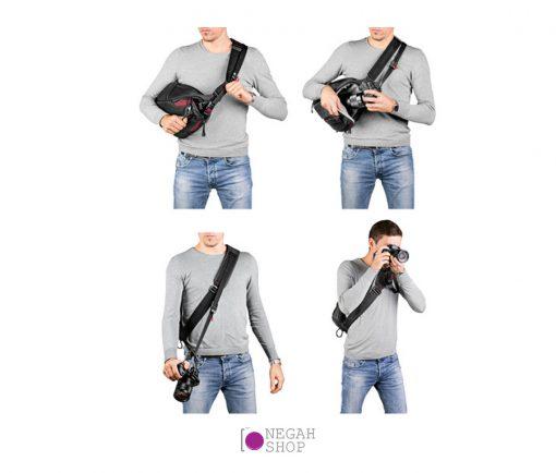 کیف کوله تک بند مانفروتو Manfrotto Pro Light FastTrack-8 Sling Bag