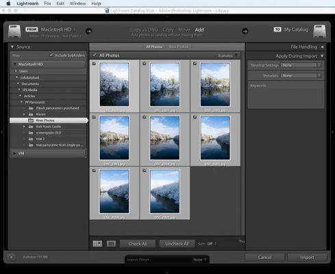 import کردن عکس ها در لایت روم