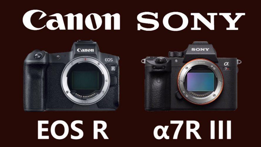 مقایسه دوربینهای sony alpha a7R lll و Canon EOS R| باتری