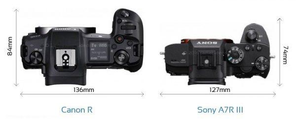 مقایسه دوربینهای sony alpha a7R lll و Canon EOS R  ساختار و بدنه
