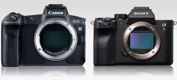 مقایسه دوربینهای sony alpha a7R lll و Canon EOS R  سنسورها