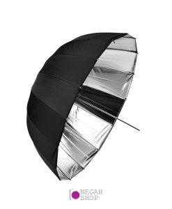 چتر عمیق پارابولیک داخل نقره ای لایف Life 105cm AU48SH