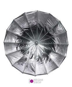 چتر عمیق پارابولیک داخل نقره ای لایف Life 85cm AU48SH