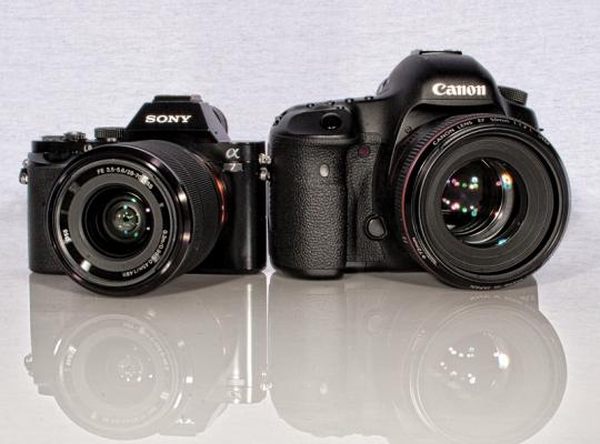تفاوت دوربین بدون آینه و DSLR