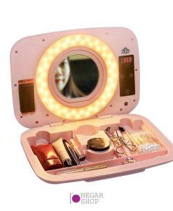 کیف لوازم آرایش به همراه رینگ لایت ABR