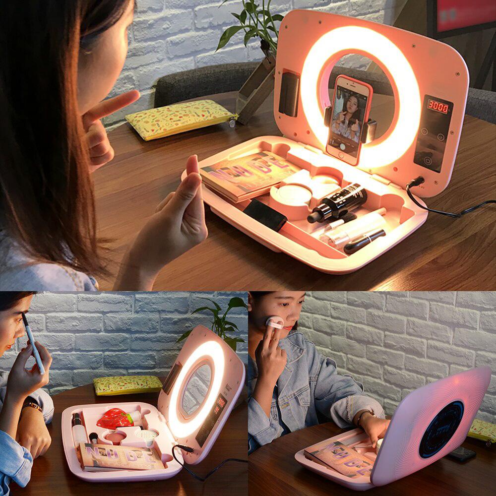 کیف لوازم آرایش مجهز به رینگ لایت ABR